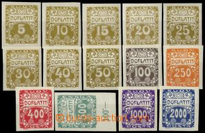 74795 - 1919 Pof.DL1-14, Ornament, complete set, c.v.. 970CZK