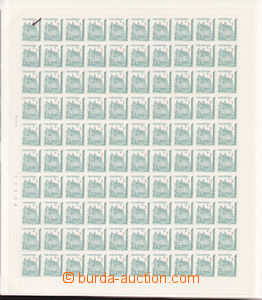 74799 - 1993 Pof.15, complete unfolded 100-stamps sheet with date an