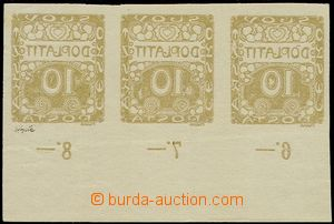 74809 - 1919 Pof.DL2, Ornament 10h, the bottom horizontal strip of 3