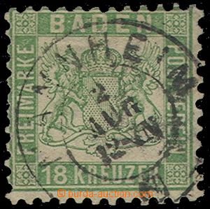 74852 - 1862 Mi.21, slightly off center, rare stamp!, exp. Rieger, c