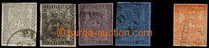 74910 - 1852-53 Mi.2-5, 7, nice pieces, all exp. Kotzek, c.v.. 750€