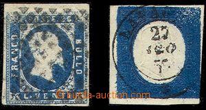74913 - 1851-54 Mi.2, 8, nice pieces, exp. Rieger, Kotzek, c.v.. 270