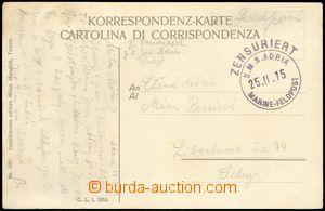 74924 - 1915 S.M.S. ADRIA, round censorship mark Navy Field Post/ 25