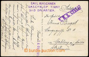 74935 - 1917 S.M.S. CYKLOP, violet straight line postmark, catalogue