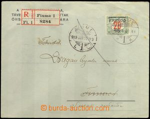 74944 - 1919 Reg letter to Sušaku, with,. Mi. 30, CDS FIUME/ 20.1.19