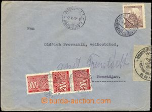 74962 - 1941 DEAD LETTER OFF. BRNO  letter to Prostějov, CDS FRENŠ