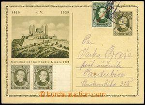 75053 - 1939 CDV1, Bradlo, addressed to to Bohemia-Moravia, uprated