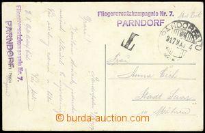 75063 - 1917 Fliegerersatzkompagnie Nr.7/ Parndorf, řádkové fialo
