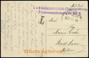 75095 - 1917 Fliegerersatzkompagnie Nr.7/ Parndorf, řádkové fialo