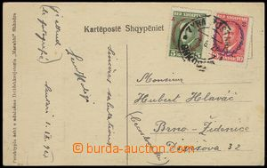 75126 - 1927 postcard to Czechoslovakia, franked by stmp Mi.153, 154
