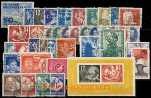 75174 - 1949-51 selection of 40 pcs of stamp., contains i.a. Mi. Bl7
