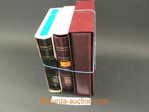 75196 -  3 pcs of stockbooks, 2 pcs of 4-kroužkových stockbooks Leuc