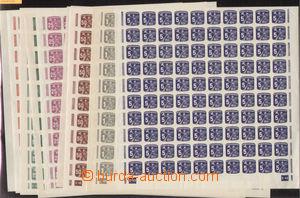 75197 - 1945 Pof.NV23-32, kompletní řada 100-známkových archů s DZ 1