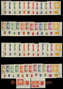 75217 - 1941 Pof.SL1-12, I.vydání, dolní rohové kusy, levé i pr