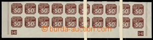 75219 - 1939 Pof.NV8, whole lower bnd-of-20 with plate number 3-42,