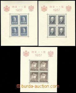 75225 - 1937 Mi.Bl.2, Bl.3, Bl.4, kat. 90€