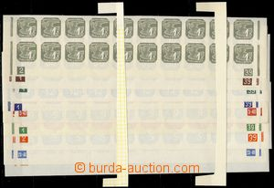 75226 - 1939 Pof.NV1-9, complete the bottom bnd-of-20, various plate
