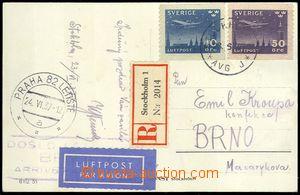 75240 - 1937 R+Let pohlednice do ČSR, vyfr. leteckými zn. Mi.213-214