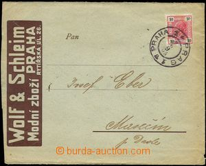 75242 - 1905 Maxa W30, envelope with additional-printing firm Wolf &