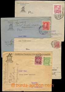 75246 - 1906-17 Maxa F61, H16, comp. 4 pcs of envelopes with added-p