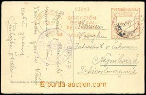 75248 - 1937 ŠPANĚLSKO / INTERBRIGÁDY  pohlednice zaslaná ze Šp