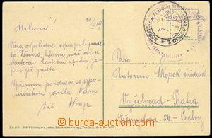 75251 - 1919 pohlednice psaná 28.I.1919 po obsazení Těšína, DR