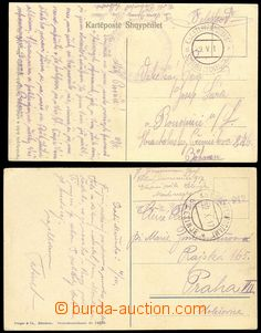 75279 - 1917 2x pohlednice zaslaná do Čech, 1x s DR EPA SCUTARI (S