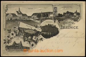 75282 - 1900 ŽELEZNICE - lithography, place of pilgrimage Tábor, o