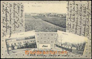 75283 - 1924 LÍŠEŇ - 3-views  B/W., general view, castle, lodge;