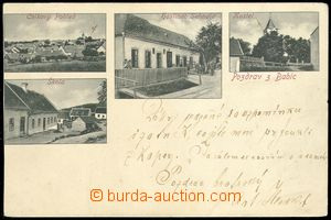 75286 - 1900 BABICE N. S. - 4-view,  B/W., pub, school, church; long