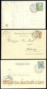 75287 - 1898-08 comp. 3 pcs of Ppc with various bilingual special po