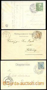 75287 - 1898-08 sestava 3ks pohlednic s různými 2-jazyčnými PR,