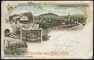 75288 - 1899 DOUBICE (Daubitz) - lithography, lime-kiln, jeleni, Tet