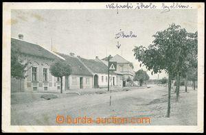 75289 - 1945 HORNÍ HERŠPICE - single-view, street with school,  B/