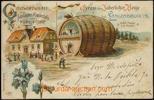 75292 - 1899 JAVORNÍK (Jaberlich) - litografická koláž, restaura