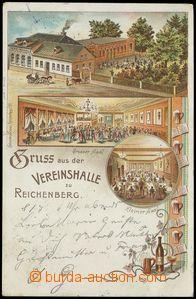 75299 - 1900 LIBEREC (Reichenberg) - restaurace Vereinshalle, celkov