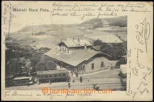 75300 - 1903 STARÁ PAKA - railway-station, train; long address, Us,