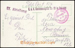 75319 - 1914 K.u.K.. Garnisonsspital No.19 in Pozsony, IX.Abteilung,