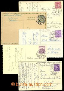 75332 - 1939-42 comp. 5 pcs of entires with postmarks railroad forwa
