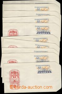 75365 - 1972 COB26, Písek 72, sestava 10ks obálek, luxusní, kat.