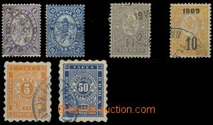 75413 - 1882-1909 comp. 6 pcs of stamps, Mi.12, 18, 29, 74, Postage