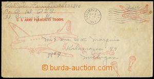 75416 - 1944 USA  postal stationery cover for American oddíly para�