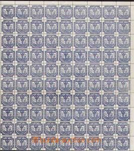 75422 - 1917 ÖSTERREICHISCHES SCHWARZES KREUZ  part 90 pcs of sheet