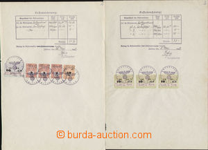 75424 - 1940-42 SUDETENLAND  comp. 3 pcs of documents with German re