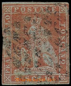 75426 - 1851 Mi.3x, value 2So red-brown, light cut in L margin, on r
