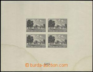 75437 - 1943 Pof.PrA1b Terezínský aršík, barva černá, kat. 12.