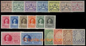 75457 - 1929-33 Mi.1-15, 17-20, vše lehká stopa, kat. 160€
