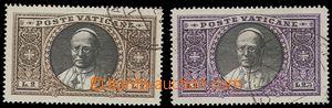 75460 - 1933 Mi.32-33, Pius XI., values 2L and 2,75L, c.v.. 90€
