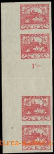 75463 -  Pof.5Ms, 10h  same facing 4-stamp gutter with L margin, pla