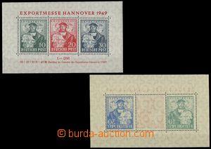 75470 - 1949 BIZONE  Mi.Bl.1 (Mi.103-5/I) Fair Hannover 1949, 2x min